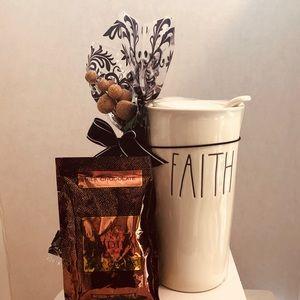 """Rae Dunn """"Faith """" travel mug"""